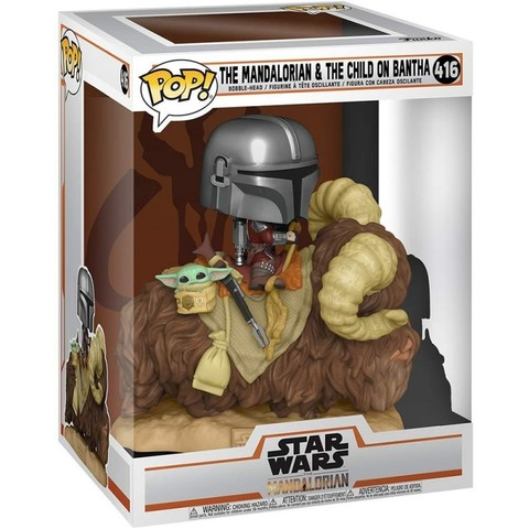 Funko POP! Deluxe: Star Wars: Mandalorian: Mandalorian with Child on Bantha || Мандалорец с Малышом на Банте
