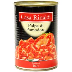 Кусочки очищенных помидоров Casa Rinaldi в собственном соку 400 гр
