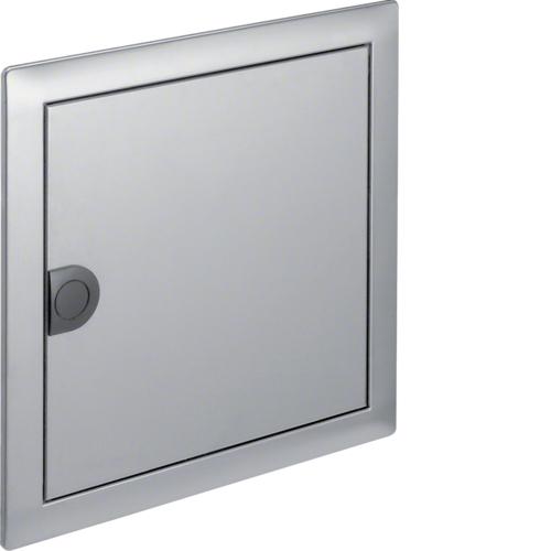 Наружная рамка с дверцей для встраиваемого щитка Volta,1-рядного, нерж.сталь
