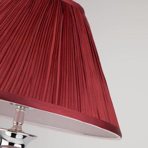 Классическая настольная лампа 008/1T MRD (бордо)