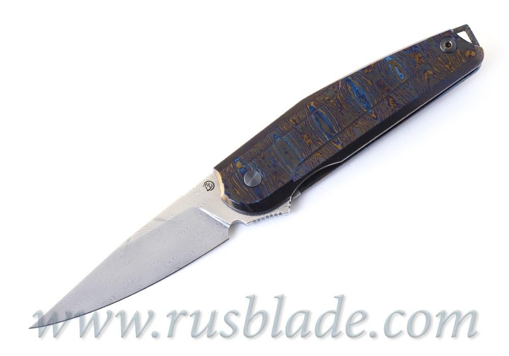 Cheburkov Full Custom Colibri Damascus Timascus One-Off