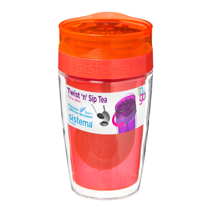 Термокружка для чая Sistema 370 мл, цвет Красный