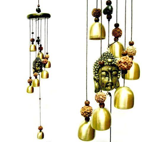Музыка ветра Будда 7 колокольчиков, 63 см металл