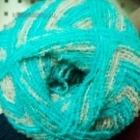 Фото: Пряжа Суперфантазийная цвет 762 Лазурный берег Пехорка - купить в интернет-магазине Клубок Шоп