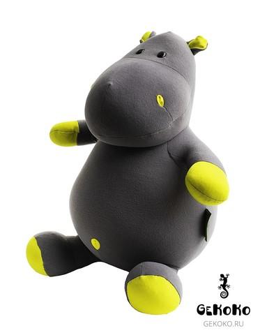 Подушка-игрушка антистресс Gekoko «Бегемот Няша», желтый 4