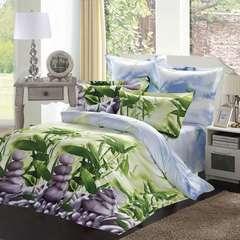 Сатиновое постельное бельё  1,5 спальное Сайлид  В-148
