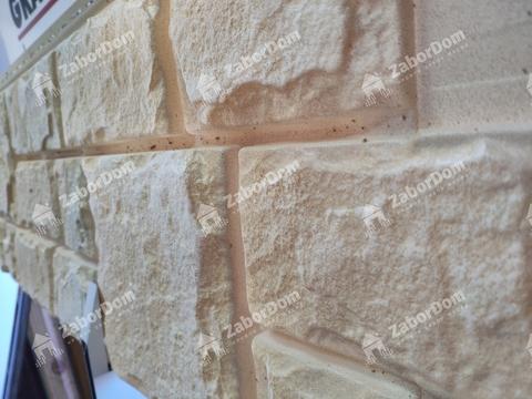 Фасадная панель Гранд Лайн Я-ФАСАД Камень Слоновая кость 1407х327 мм
