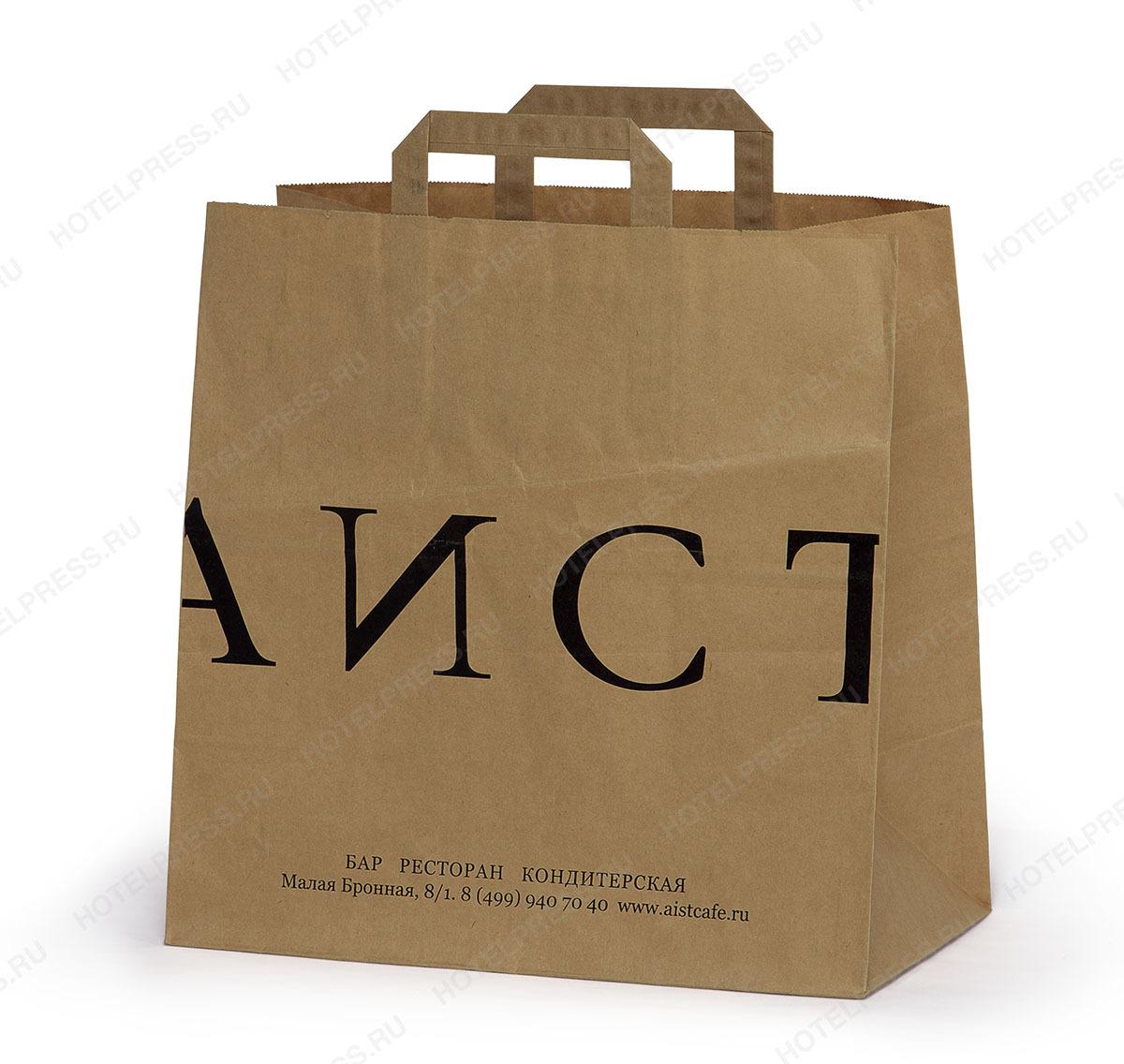 Крафтовый пакет с печатью логотипа