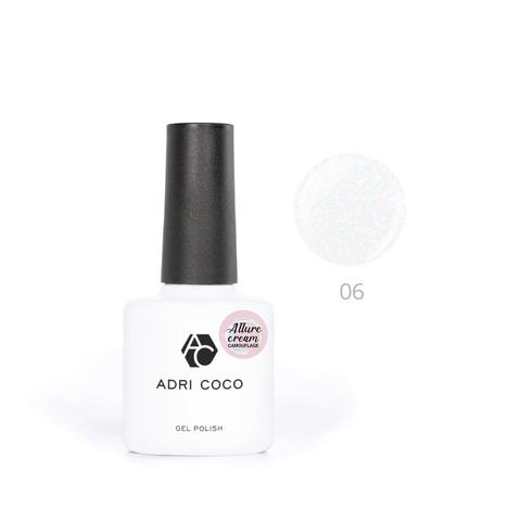 Гель-лак ADRICOCO Est Naturelle №06 камуфлирующий молочный с шиммером (8 мл.)