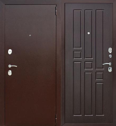Входная дверь F12 (Венге).ЦЕНА - С УСТАНОВКОЙ!