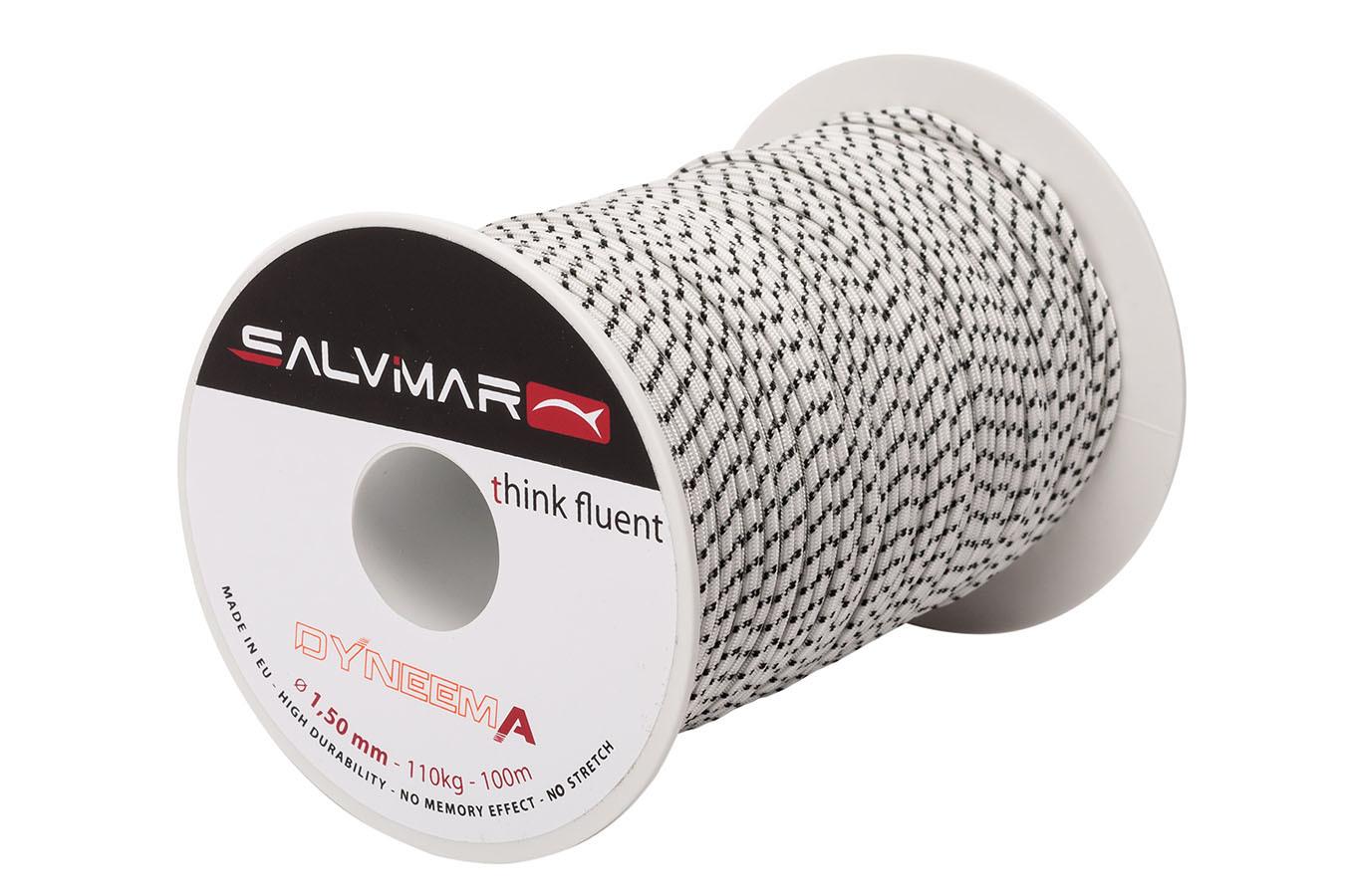 Линь Salvimar Dyneema, ø 1.5 мм., белый, до 110 кг.