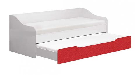 Кровать Алфавит выдвижная красный