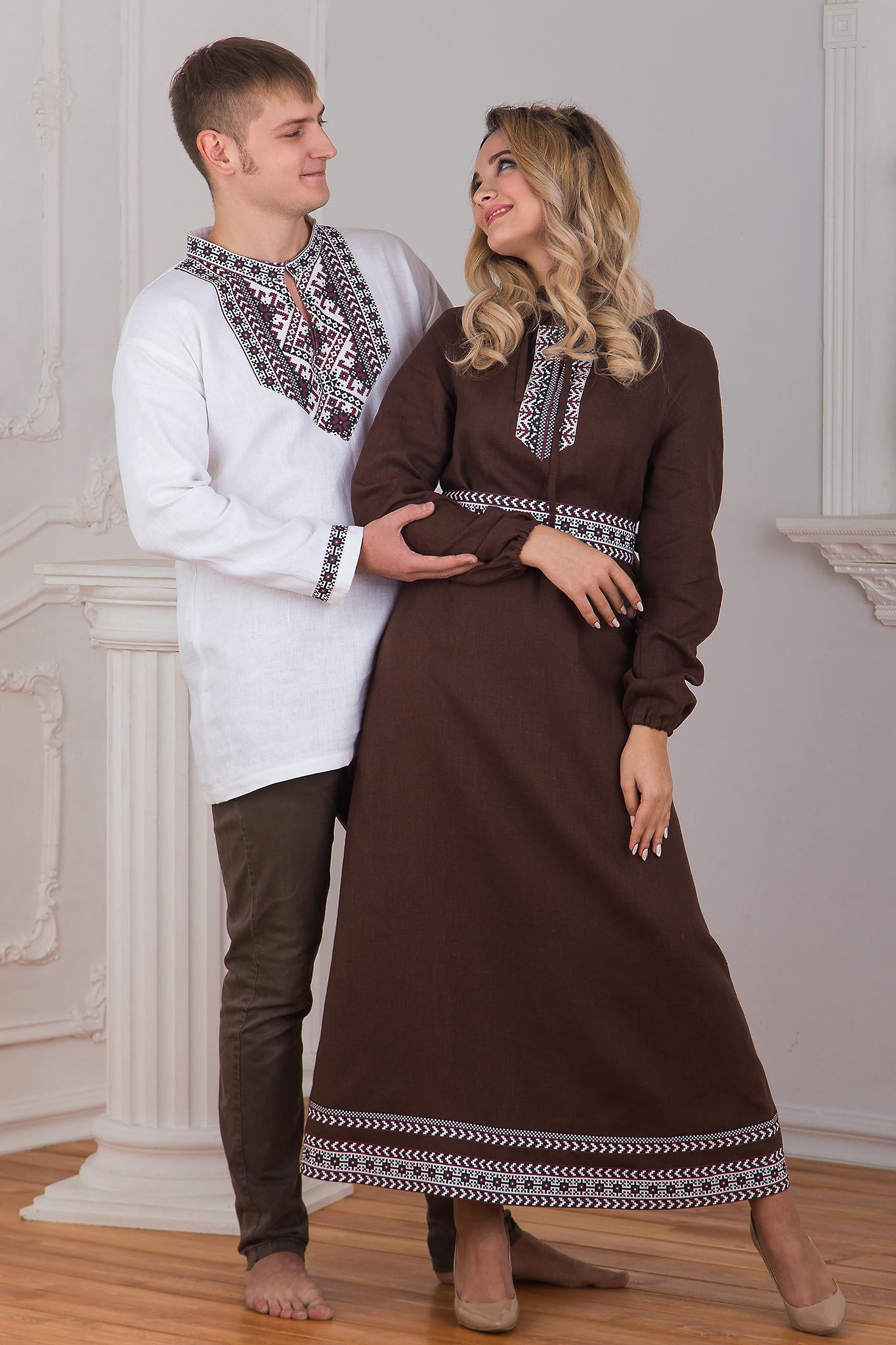 Платье льняное Новгородское семья