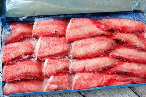 Окунь отборный морской сухой заморозки - брикет 7кг , Баренцево море