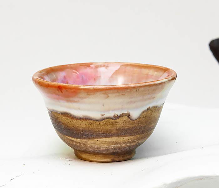 CUP110 Пиала для чая ручной работы «Перламутр» фото 02