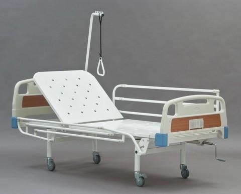 Медицинская функциональная кровать КФО-01(МЕТ) полная комплектация с поднимающимся изголовьем - фото