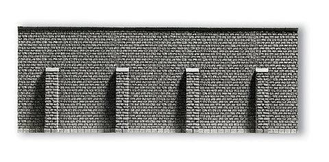 Каменная стена с опорами - 33,4x12,5 см, (H0)