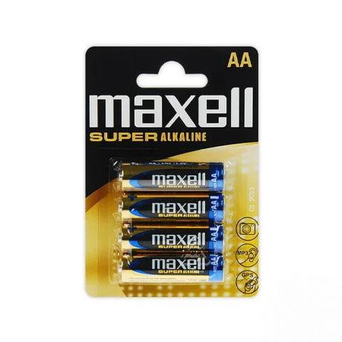 Батарейки Maxell Super Alkaline LR6, AA (4/48) BL