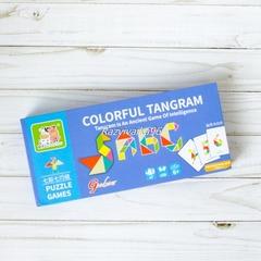 Разноцветный Танграм в пенале
