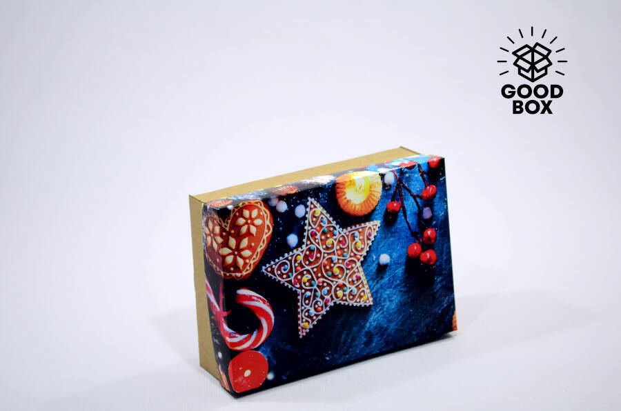 Креативная новогодняя коробка купить в Алматы