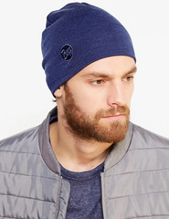 Теплая шерстяная шапка Buff Solid Denim - 2