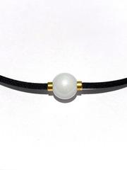 Ожерелье PHITEN RAKUWA NECKLACE METAX MIRROR BALL (белое)