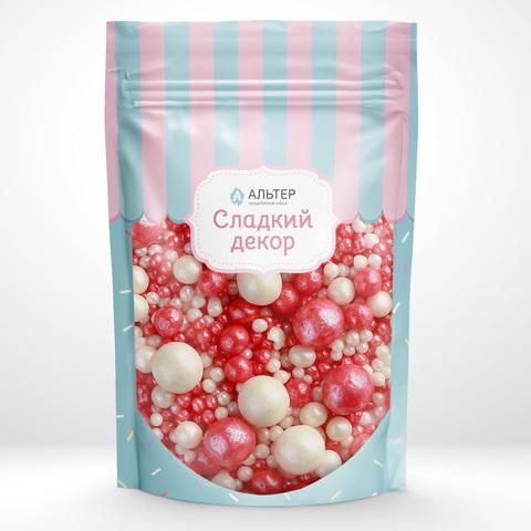 Воздушный рис Альтер в шоколадной глазури Красный/Серебро 100 гр