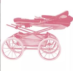 DeCuevas Коляска с сумкой и зонтиком для кукол REBORN серии Мартина, 90 см (складная, с регулируемой ручкой) (82033)