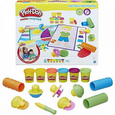 Масса для лепки Play-Doh Текстуры и инструменты