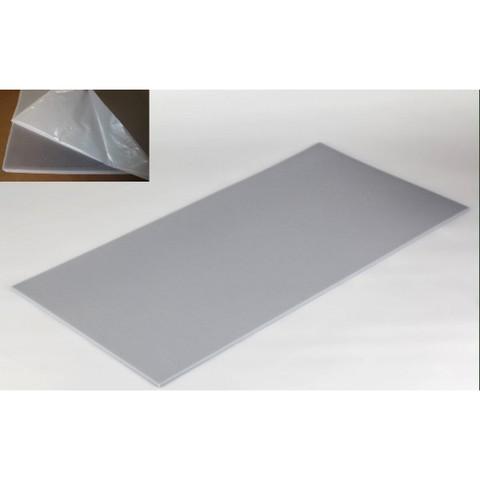 негорючая  акустическая панель ECHOTON FIREPROOF 100x50x1cm  из материала  меламин серый  с адгезивным слоем