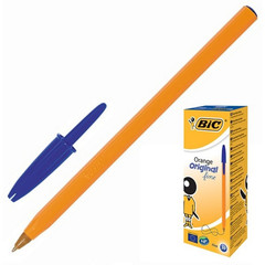Ручка шариковая одноразовая BIC Orange синяя (толщина линии 0.35 мм)