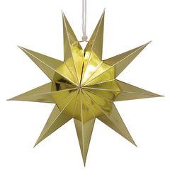 Звезда 45 см девятиконечная Золото, 1 шт.