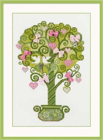 Набор для вышивания крестом «Дерево счастья» (1295)