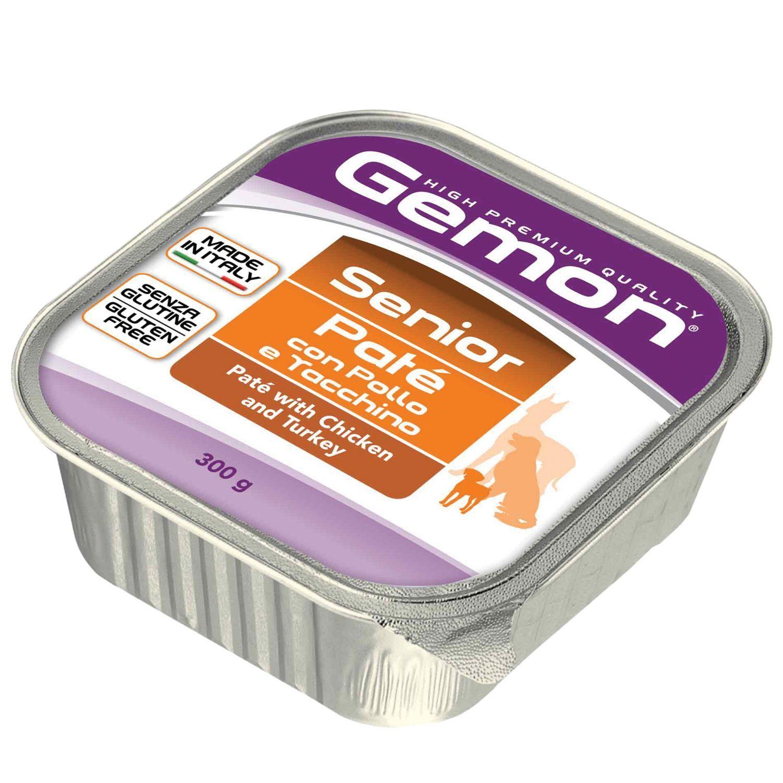 Gemon Консервы для пожилых собак Gemon Dog паштет курица с индейкой 70300520_1.jpeg