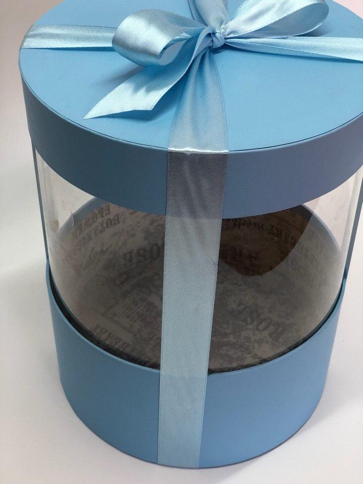 Коробка аквариум 18 см Цвет :голубой  . Розница 350 рублей .