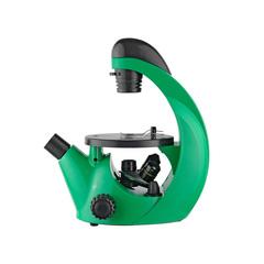 Микроскоп школьный Микромед Эврика 40х-320х инвертированный (лайм)