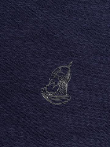 Футболка с длинными рукавами цвета неви с круглым вырезом