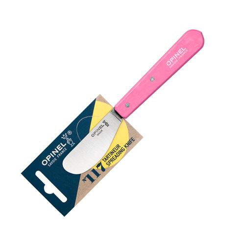Нож для масла Opinel №117, нержавеющая сталь, блистер, розовый