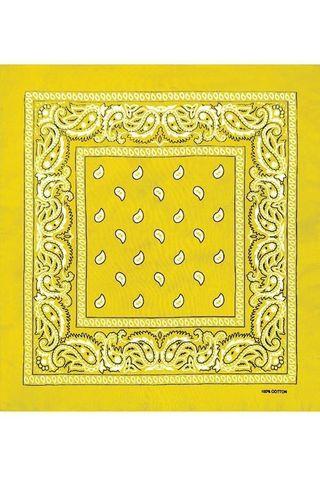 Желтая бандана фото