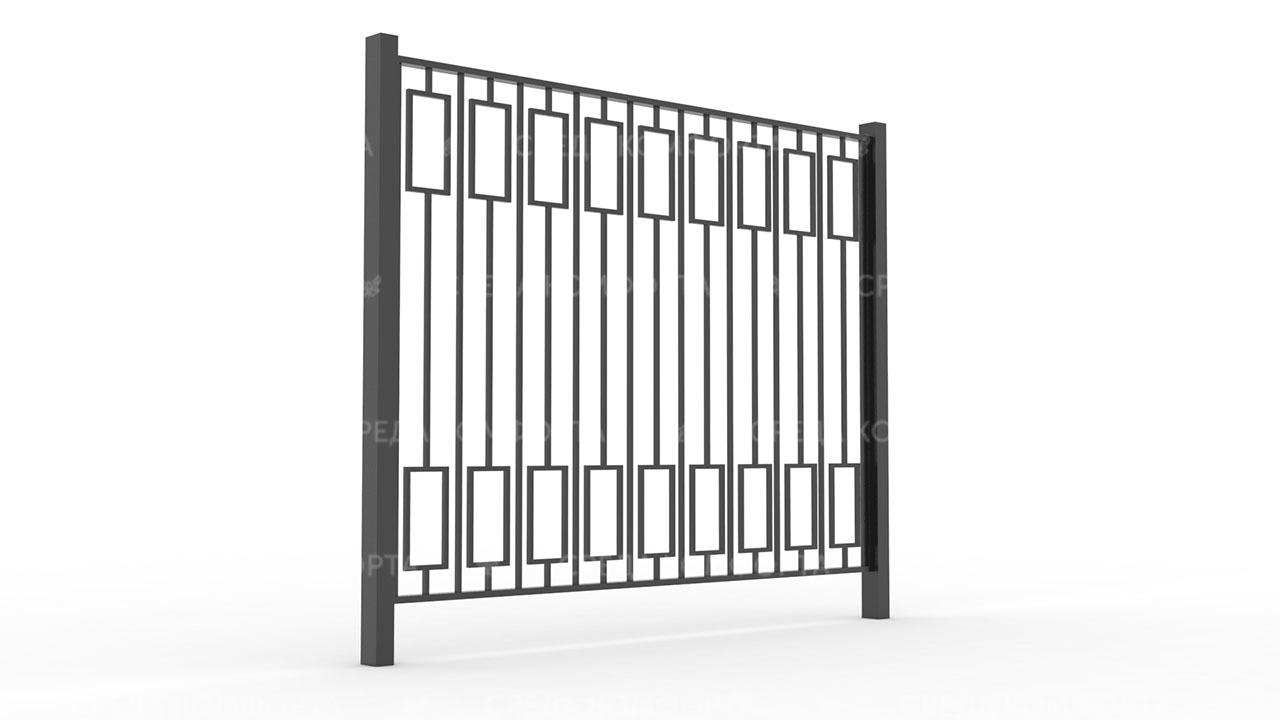 Забор из профильной трубы ZBR0153