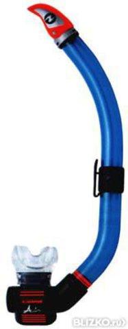 Трубка AquaLung Air Dry (черный силикон)