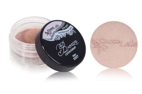 Для макияжа7: Тени минеральные для век тон 2227 Bronze/ сатиновые, TM ChocoLatte, 3 мл/1,2гр