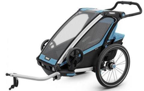 Картинка коляска Thule Chariot Sport2 голубая  - 1