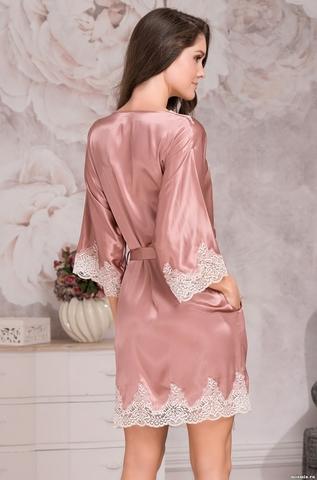 Халат женский шелковый MIA-Amore  MARILIN DELUXE Мэрилин Делюкс 3443 роза