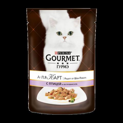 Gourmet A la Carte Консервы для кошек с Домашней птицей, баклажаном, цуккини и томатом а-ля провансаль (Пауч)