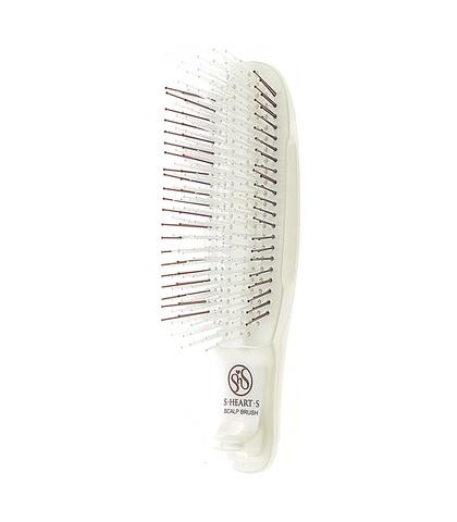 Расческа Scalp Brush Kom (белая, мягкая щетина)