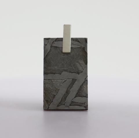 Прямоугольный кулон из метеорита Сеймчан