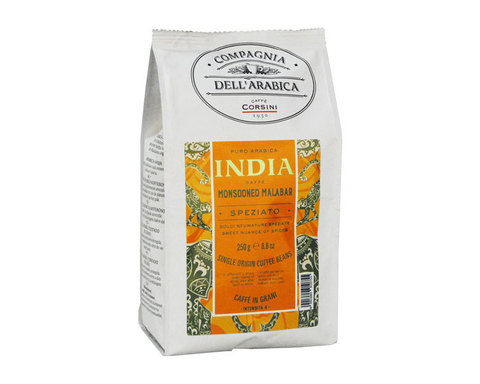 купить Кофе в зернах Compagnia Dell`Arabica India Monsooned Malabar, 250 г