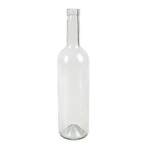 Бутылка винная Бордо Прозрачная, 0,75 л. 12 шт