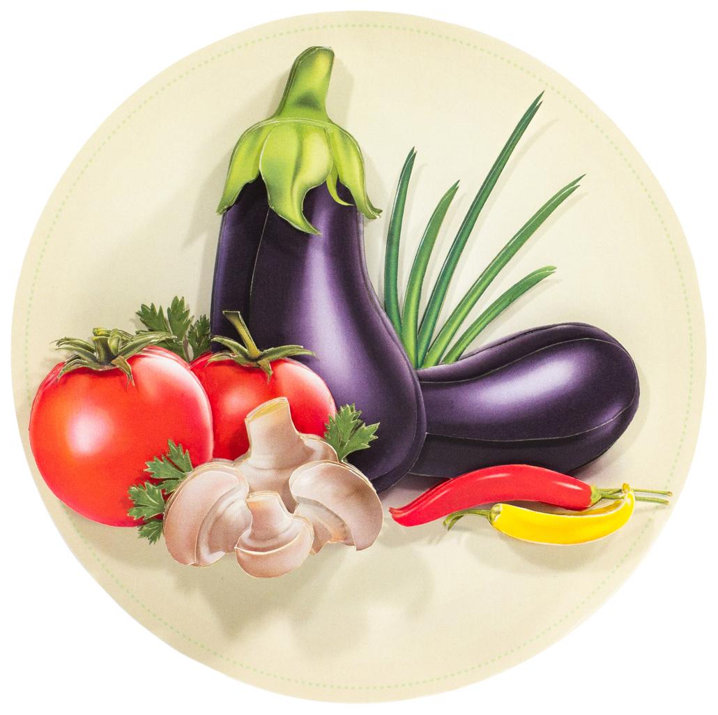 Папертоль Натюрморт с овощами — готовая работа, вид спереди.